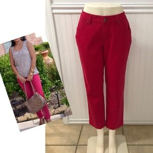 JAG jeans pink Sz 16 slim leg Ankle pants denim